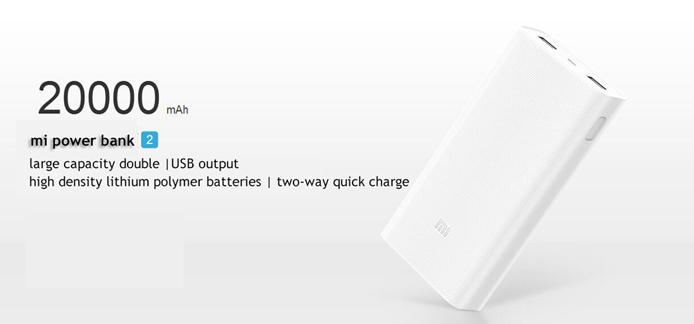 Xiaomi Mi Powerbank 2 20000 mAh Power Bank External Battery Micro USB Portable Bateria Externa Portable Charger 20000mAh (2)