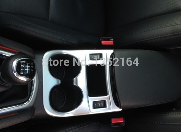 Auto interior moulding , cup holder decorative frame For Nissan Qashqai J11 2014 2015 2016,manual version