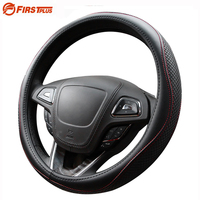 38cm Genuine Leather Breathable Car Steering Wheel Cover Case Automotive Interior Styling For Nissan Hyundai Kia