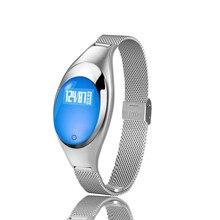 Гестия смарт-браслет Z18 Bluetooth браслет Приборы для измерения артериального давления кислорода сердечного ритма Мониторы Водонепроницаемый для IOS Android женские