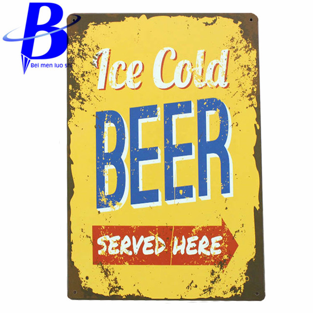 Tin Sign metal art poster home decor House Cafe Vintage Bar signs ...