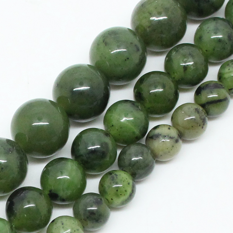 Natural Stone Beads Canada Jade Stone Beads For Jewelry Making Bracelet Necklace 15inch 6/8/10/12mm Spacer Beads Diy Jewelry