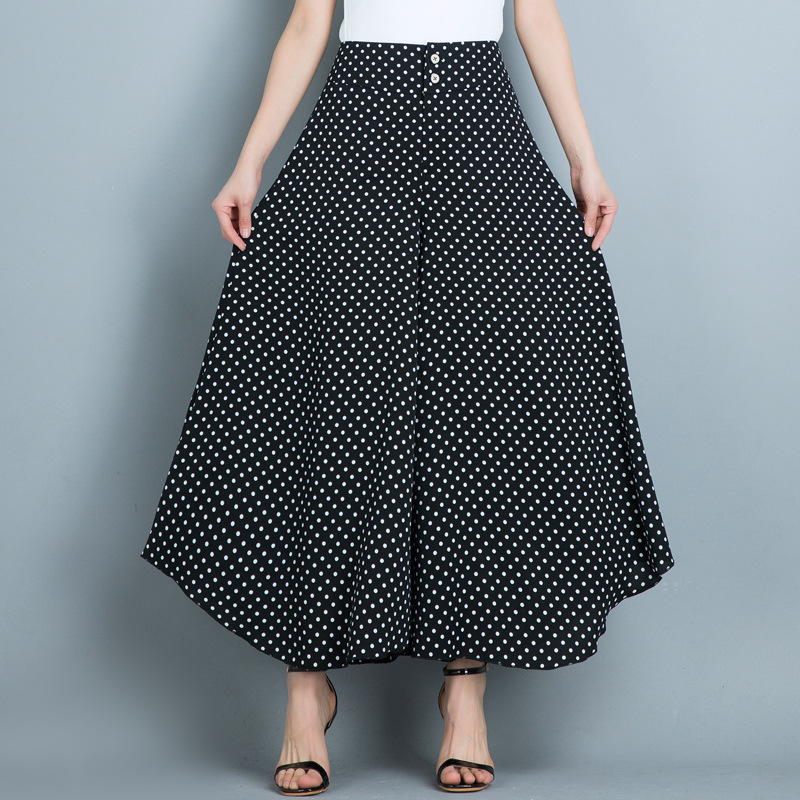 Loose   Wide     Leg     Pants   Female 2019 Spring Summer High Waist Ladies Trousers Chiffon Women's Ftted   Pants   Black Baggy   Pants   Women