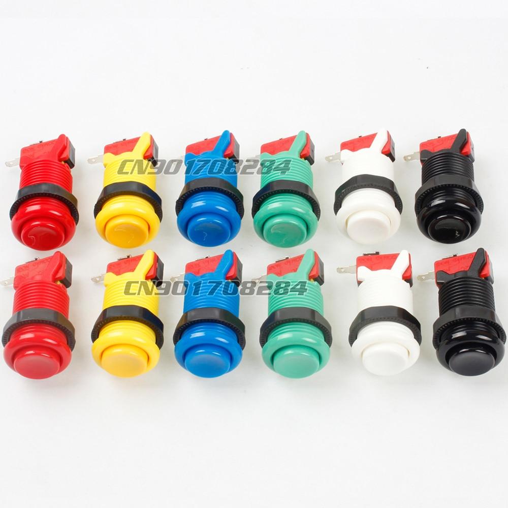 12x nouveau 30mm Happ style boutons poussoirs avec Micro interrupteur pour Arcade Joystick bricolage Kits pièces Mame Jamma SNK KOF PC jeux