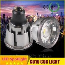 Супер яркий 10 ламповый светильник, теплый/белый 12V 110V 220V 6W 9W 12W GU10 COB светодиодный светильник GU 10 светодиодный прожектор
