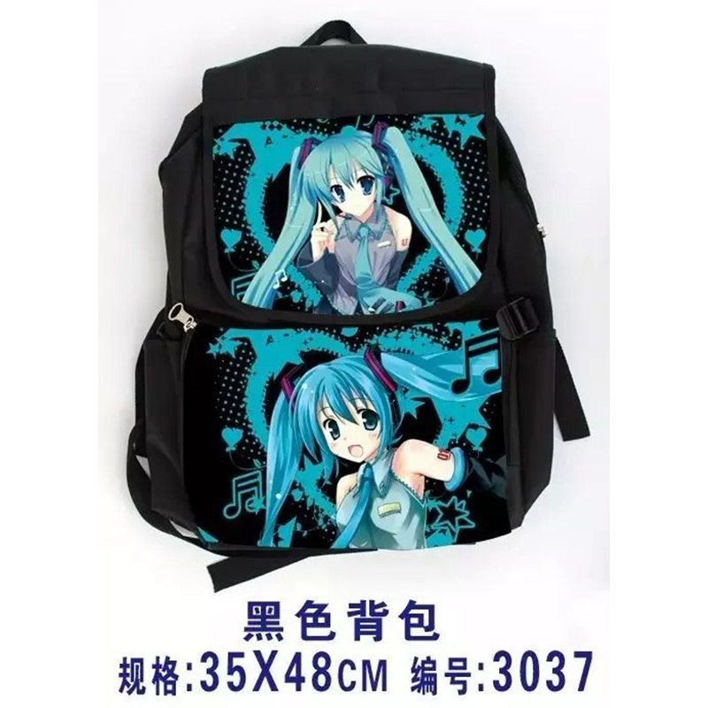 Girl Anime Hatsune Miku Vocaloid School Backpack Shoulder Bag Cosplay Canvas Rucksack free shipping vocaloid hatsume miku short green anime cosplay wig 2 x ponytails