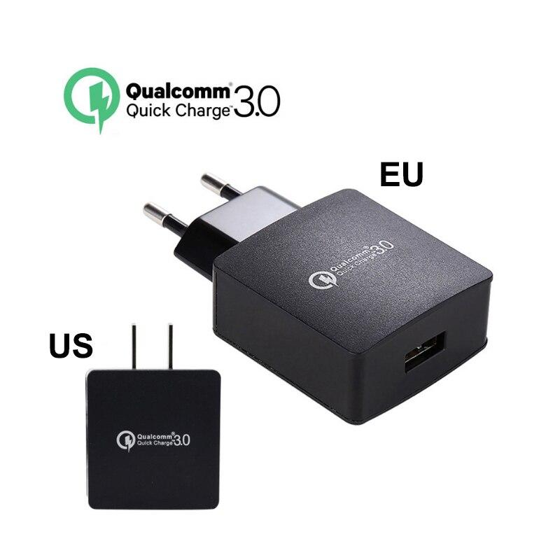 QC 3.0 USB <font><b>Charger</b></font> EU US Plug Fast Phone Wall Travel Adapter for Asus ZTE Nubia <font><b>LeEco</b></font> LG HTC Mi Samsung Sony Moto