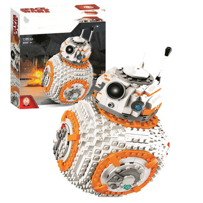 New star wars bb8 Robot starfighter fit  star wars technic figures model Building Block bricks Toy 75187 gift kid boysNew star wars bb8 Robot starfighter fit  star wars technic figures model Building Block bricks Toy 75187 gift kid boys