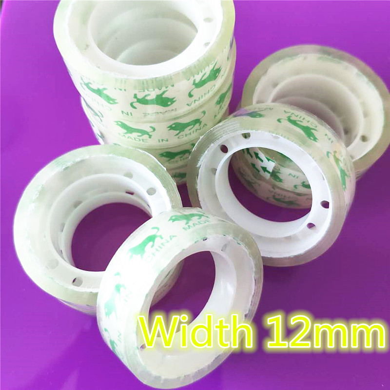 12mm Small Office S1 Transparent Tape Students Adhesive Tape Packaging Supplies Drop Shipping Free shipping12mm Small Office S1 Transparent Tape Students Adhesive Tape Packaging Supplies Drop Shipping Free shipping