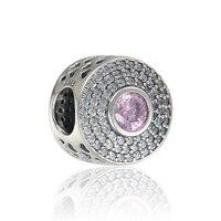 Sterling silver jewelry rose radiant splendor 925 charm bracelets charm Fits Pandora Bracelet Charms Original DIY Making