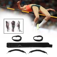 Durable Men Women Bounce Trainer Rope Basketball Tennis Running Leg Strength Training Resistance Band Strap Black