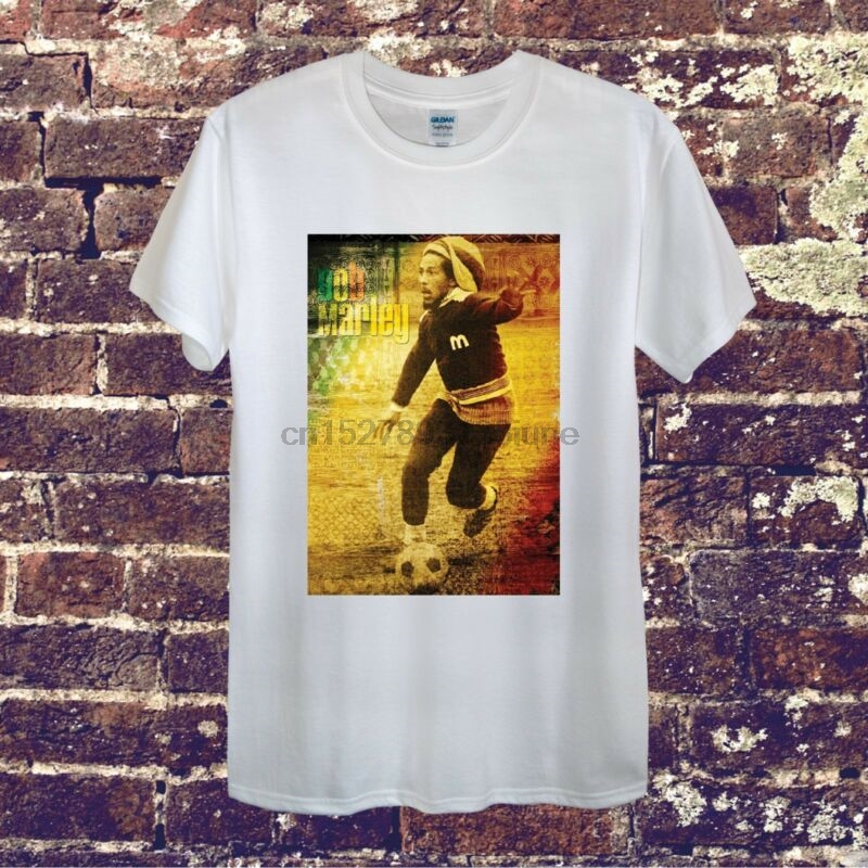 Bob Marley Reggie Football Vintage Design T-shirt Men Women Unisex Soccer Retro