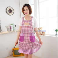 Delicate New Cute Adjustable Restaurant Cooking Bib Uniform Aprons With Pocket For Women Salon Chef Waiter