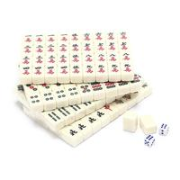 Multiplayer Entertainment Game Chinese Mahjong Set Portable As picture Mahjong