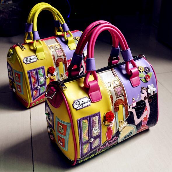 Здесь можно купить     Korean style hand-embroidered three-dimensional large-capacity female shoulder Messenger Bag  Камера и Сумки