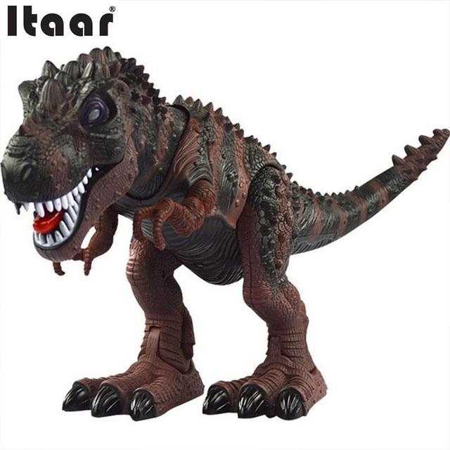 Электрический Тиранозавра Животная Модель, Работающий От Батареи Моделирование Динозавр Игрушка в Подарок