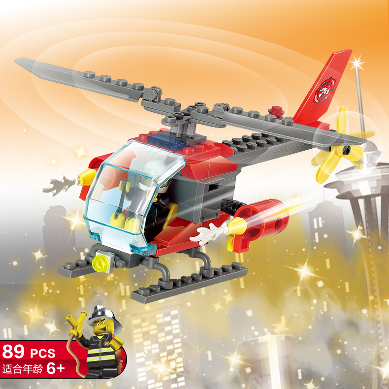 Toys & Hobbies 83pcs Firefighting Fire Helicopter Car Fireman Diy Building Blocks Compatible Legoings City Educational Bricks Toys For Children Street Price
