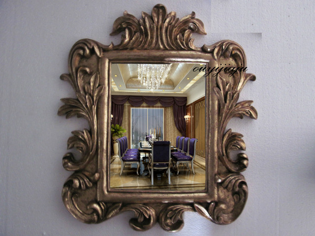 large big decorative cosmetic antique rectangular wall mirror with ...