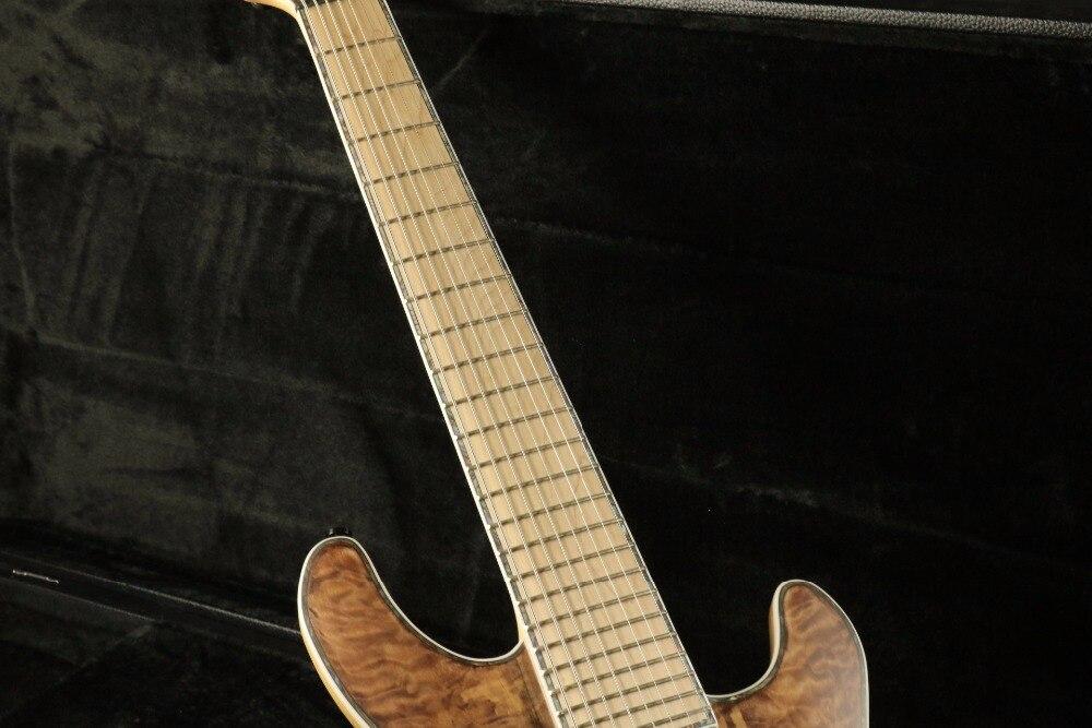 Stock haute qualité 8 cordes guitare électrique cou à travers le corps 5 pièces finition lasure bois 24F verrouillage accordeur Daddario cordes couette M - 3