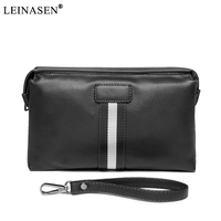 LEINASEN Brand Hot Sale Business Wristlets Pu Leather New Men S Wallet Zipper Vintage Style Wallet