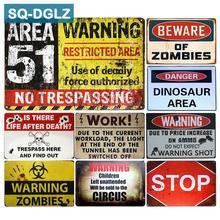 zombie póster RETRO VINTAGE