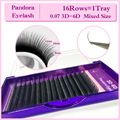 NAGARAKU 3D-6D 0.07 Volume Eyelash Extensions Mixed Length in One Lash Strip,Camellia Eyelash, Pandora Eyelashes