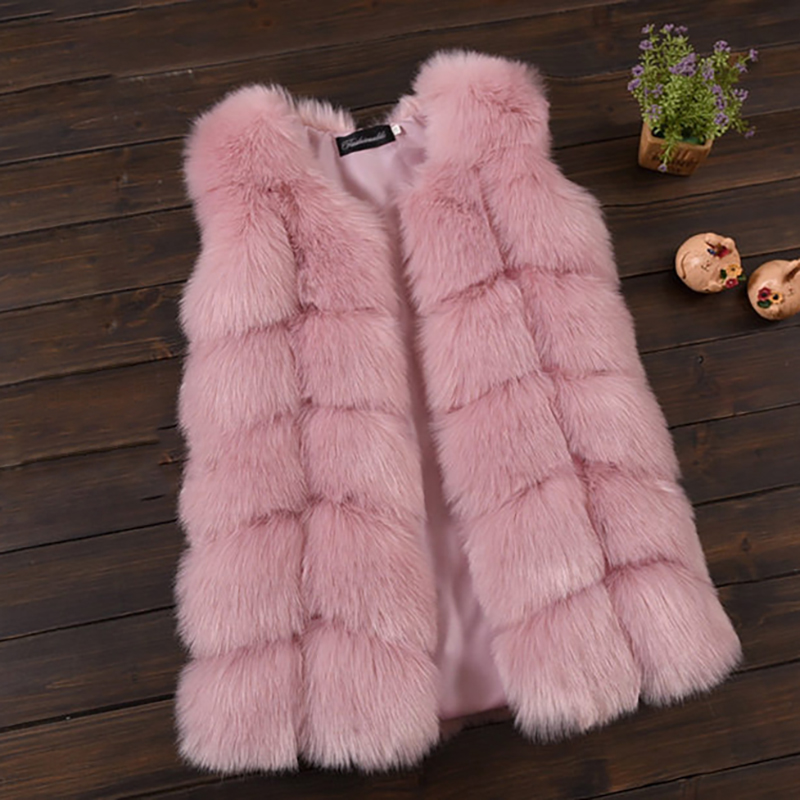 New Fox Fur Vests For Girls Thicken Warm Waistcoat Children Vest Baby Girls Faux Fur Jackets Winter Kids Outerwear Coats 2-12Y winter fur hooded warm jackets for girls padded coats thicken pu leather patchwork fox faux fur collar jacket outerwear w57