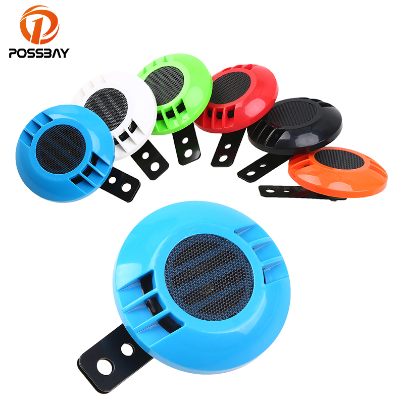 POSSBAY 1PC Universal 12V Iron Electric Vehicle Truck Motorcycle Classic Air Horn Loud Tone Sound 110db Waterproof Trumpet Bell