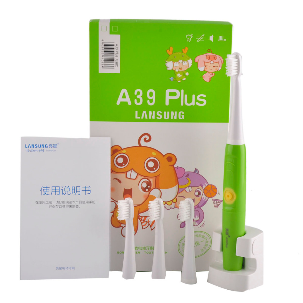 Lansung A39Plus Green Children's Electric Toothbrush Rechargeable Ultrasonic Toothbrushes Sonic Tooth Brush For Adults oral care