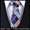 Multi Color Malha Dos Homens Gravatas De Seda Gravatas de Marca Novo Estilo Casual varejo & Atacado Frete grátis
