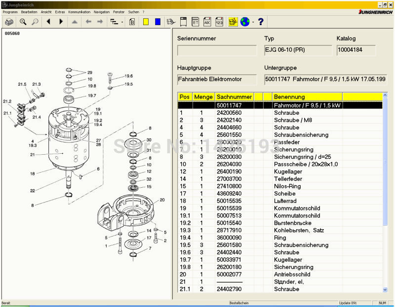 US 74 0 26 OFF JETI ForkLift ET Spare Parts Catalog For Jungheinrich Expire Patch In Software From Automobiles Motorcycles On