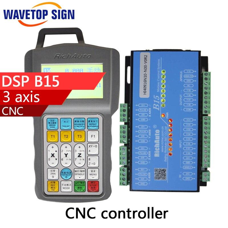 цена на 3 axis cnc dsp controller B15 DSP B15 support 3 cylinders 24v 3A