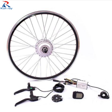 Ebike kit G350F-N 36V 350W DC Gear Brushless Hub Motor Mountain Electric bicycle Motor 20-28 bike front wheel conversion kit 10inch 350w 36v brushless non gear hub motor with vacuum tire electric scooter kit electric bike kit without front tire