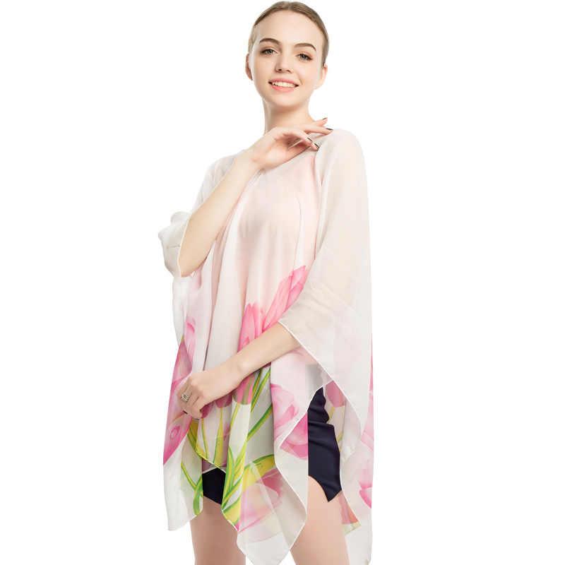 ffe871aab0 ... RUNMEIFA New Fashion Beachwear Women Swim Shawl Beach Cover Up Sheer  Swimsuit Female Beach Wear Summer ...