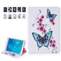 For Case Samsung Galaxy Tab A 9 7 SM T550 T555 360 Painted PU Leather Smart