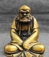 """8 """"Chiński Brązu Buddyjski Joss Arhatem Damo Bodhidharma Dharma Buddy Statua w Posągi i rzeźby od Dom i ogród na"""