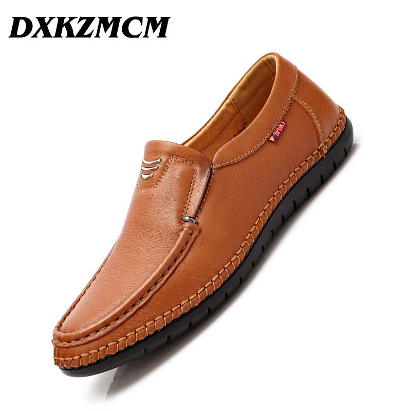 DXKZMCM Handmade Soft Moccasins Men Loafers Casual Genuine Leather Shoes Men Flats Driving Shoes sanrex type thyristor module dfa200aa160 page 4 page 2 page 4 page 1
