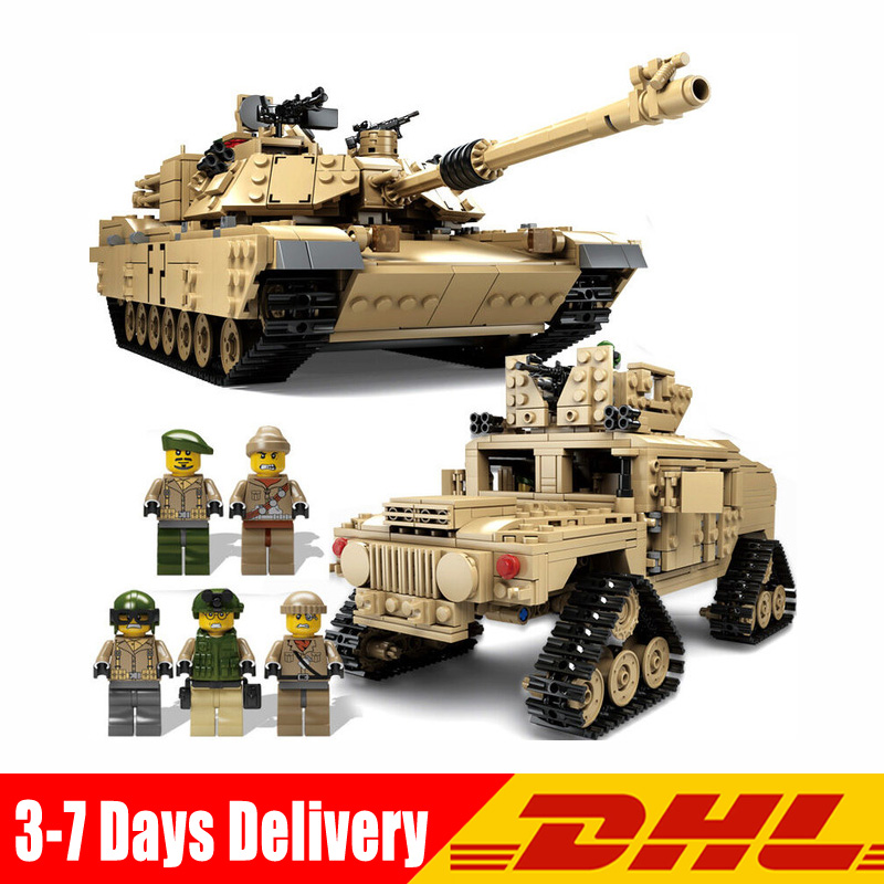 1643 Pcs KAZI Tank Building Blocks Blocks M1A2 ABRAMS MBT KY10000 Creative 1 Change 2 Tank Toys Compatible LegoINGlys Gifts 1643 pcs kazi tank building blocks blocks m1a2 abrams mbt ky10000 creative 1 change 2 tank toys compatible legoinglys gifts