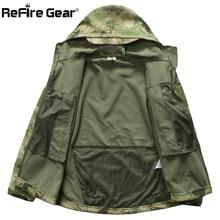 Lurker Shark Soft Shell Military Tactical Jacket Men Waterproof Warm Windbreaker Coat Camouflage Hooded Jacket US Army Clothing