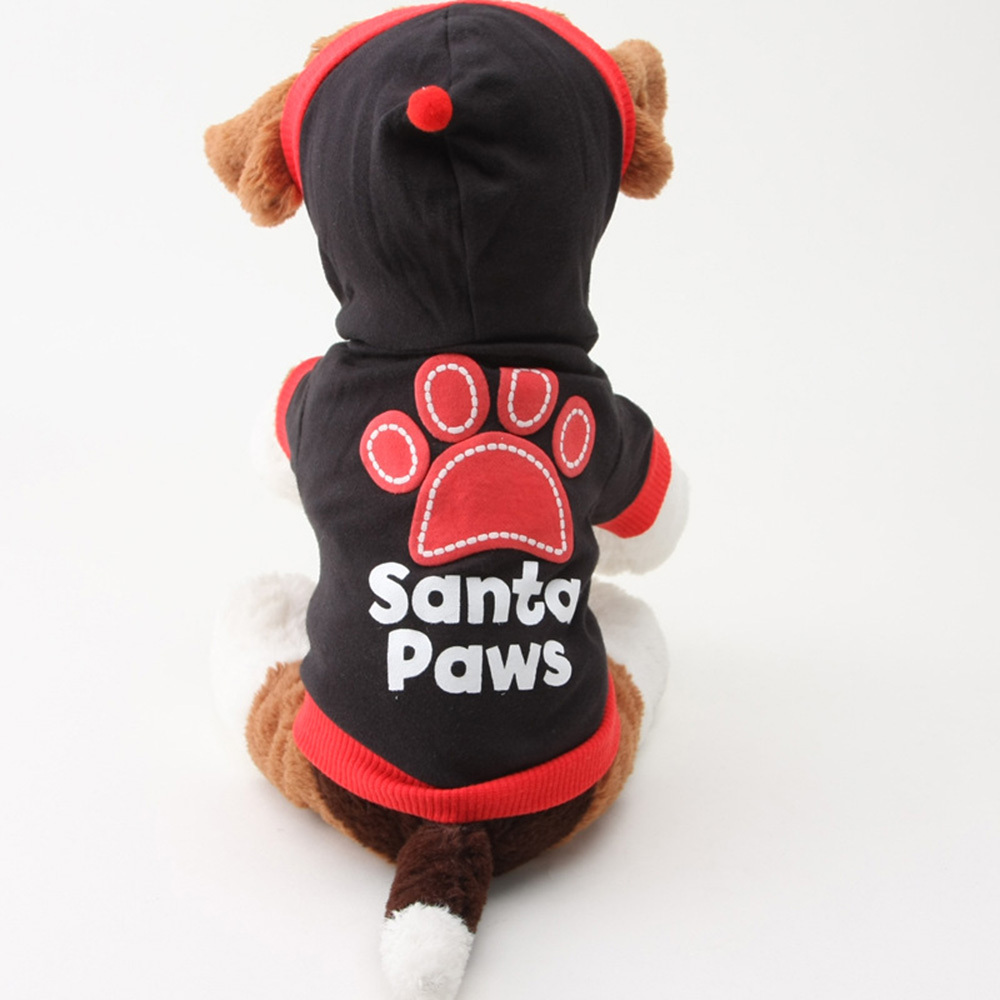 Hot Sale Pet Puppy Dogs Cat Coat Clothes Paws Printed Hoodie Sweater Apparel Tops