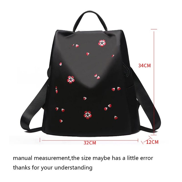 Cherry blossom embroidery backpack 1