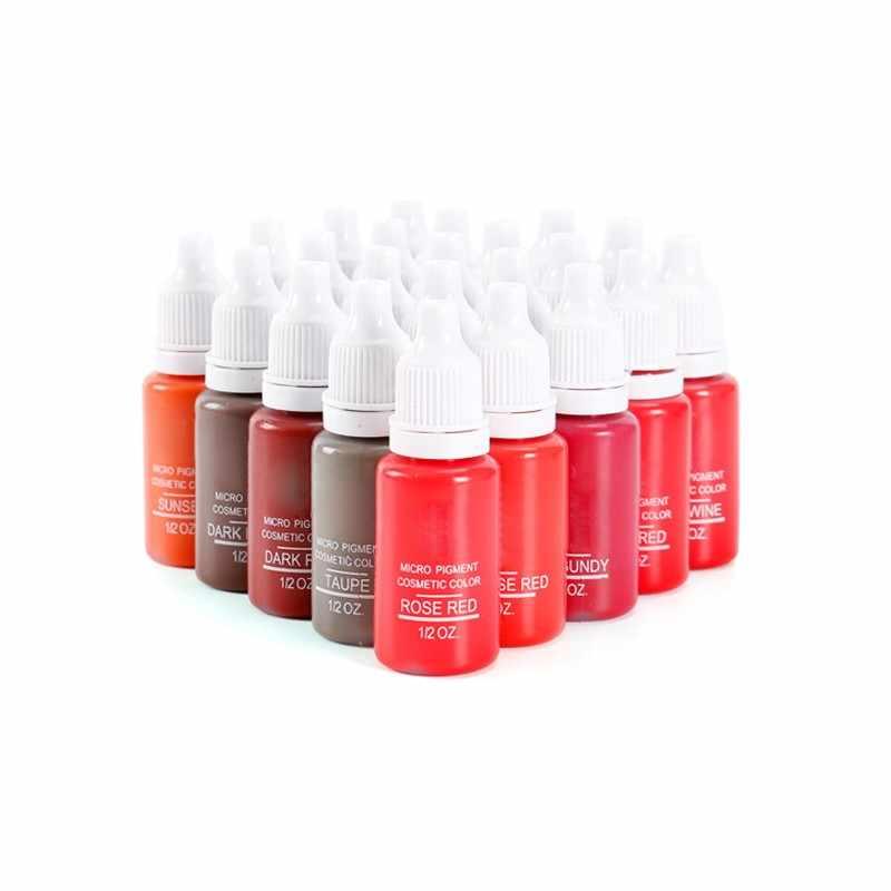 23 Colorpermanent Make Micro Pigment Cosmetische Encre Tatouage Black Tattoo Inkt Permanente Wenkbrauw Eyeliner Lip Tatoeëren Supplies