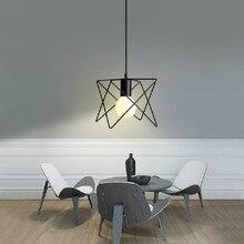 Hierro forjado de techo de la cocina de la lámpara la lámpara colgante de época negro iluminación bar colgante llevó luces decorativas decoración de la boda