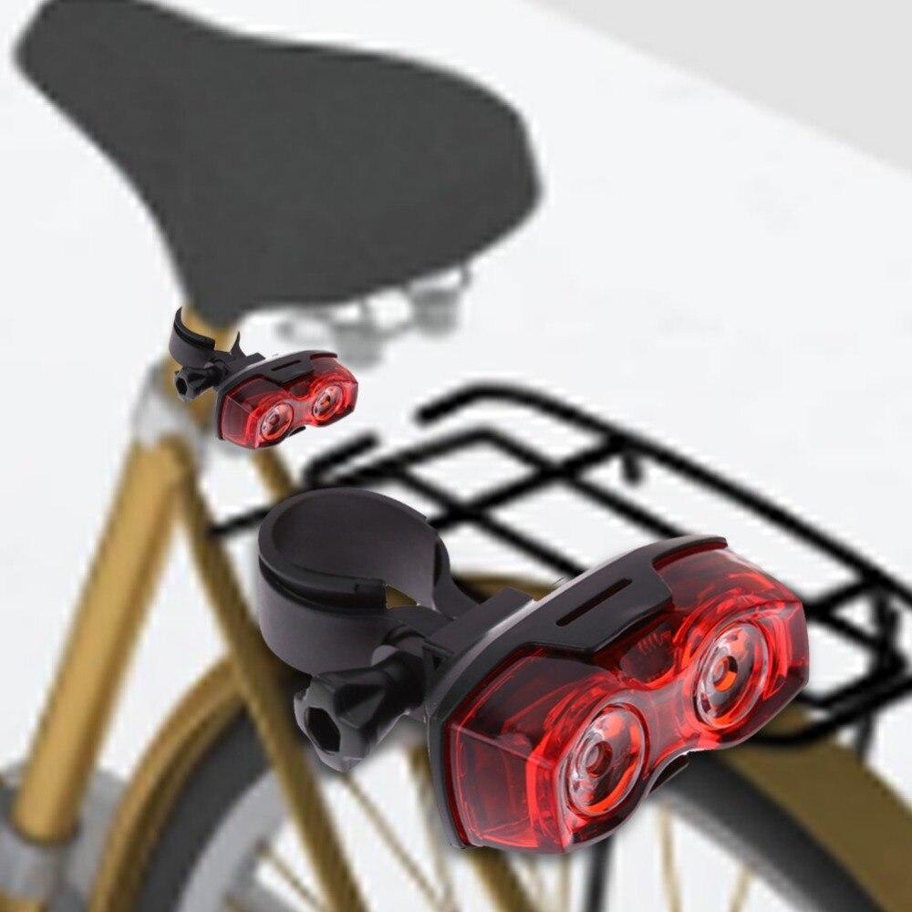 EA14 ¡ Luz Brillante Luz 2 LED de La Bicicleta Bicicleta Roja 3 Modos Noche Cicl