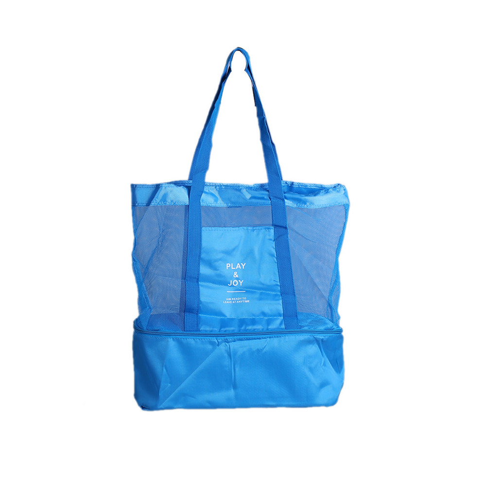 PACGOTH Leisure Bags Tote Lunch Bags Nylon and Mesh Portable Two Layers Women Girls Cooker's Thermal Convenient Lunch Bags 1 PC