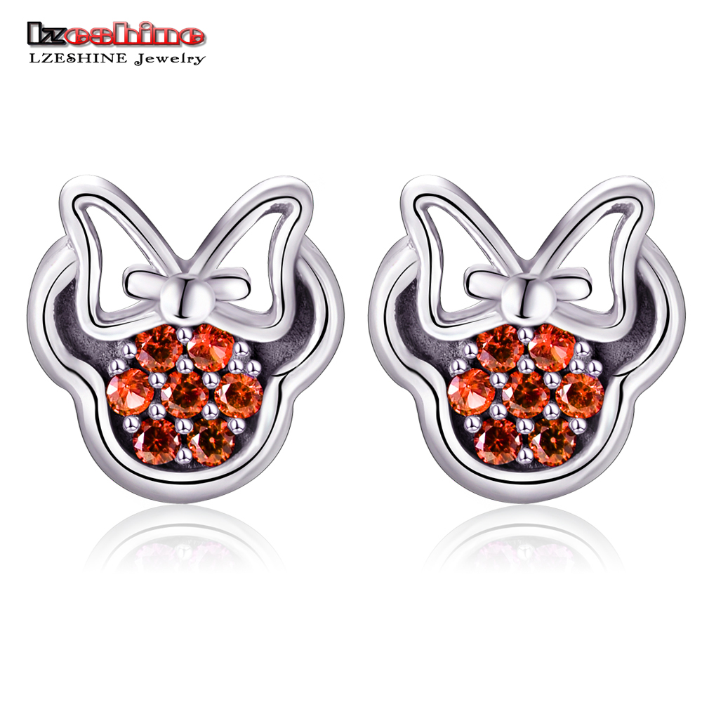 Lzeshine trendy cartoon stud earrings for girls fashion Trendy womens gifts 2015