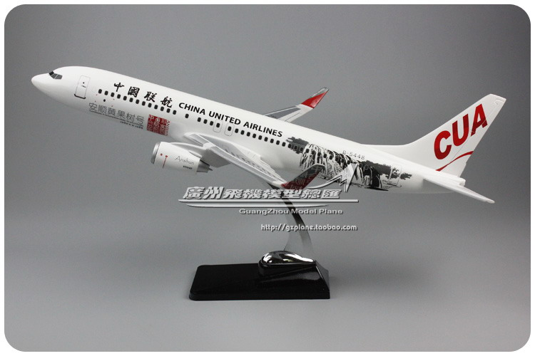 47cm Resin China United Airlines Aircraft Model Boeing 737-800 Airplane Model B737 Airways Airbus Model China CUA Aviation Model inflight china southern airlines b 5157 1 400 b737 800 commercial jetliners plane model hobby
