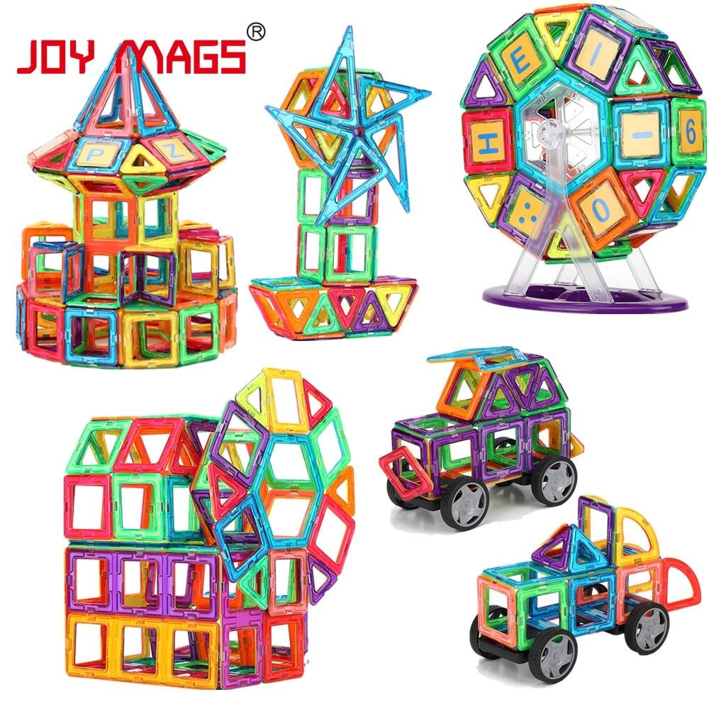 JOY MAGS Magneettisuunnittelulohko 89/102/149 kpl Rakennemallit Toy - Rakentaminen lelut - Valokuva 2