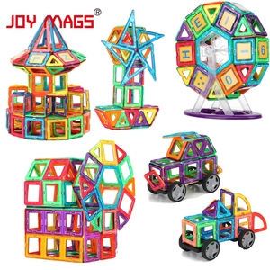 Image 2 - JOY MAGS Magnetic Designer Block 89/102/149 pcs Building Models Toy Enlighten Plastic Model Kits Educational Toys for Toddlers