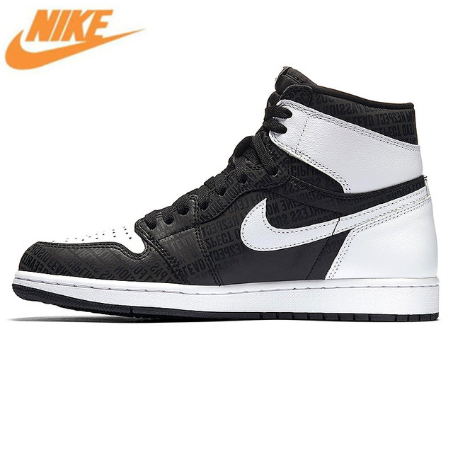 NIKE Air Jordan 1 Retro High OG AJ1 Joe 1 High Black and Gray 3M Reflective
